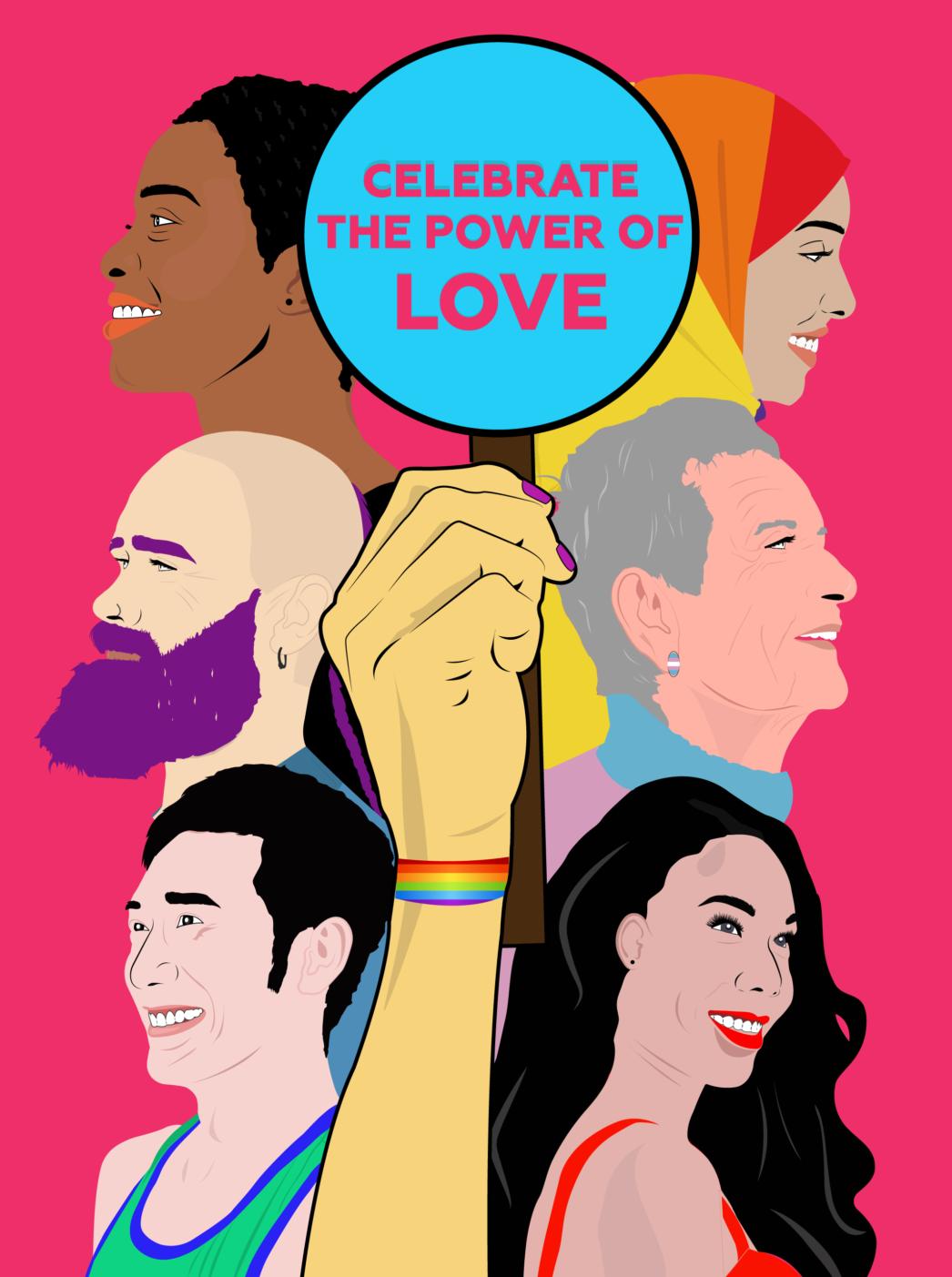 Celebrate the Power of Love Illustration