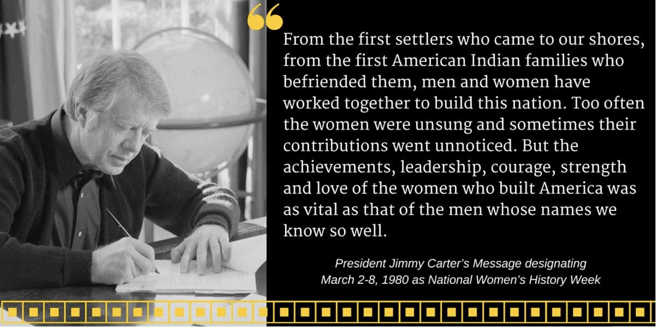 President Jimmy Carter Message